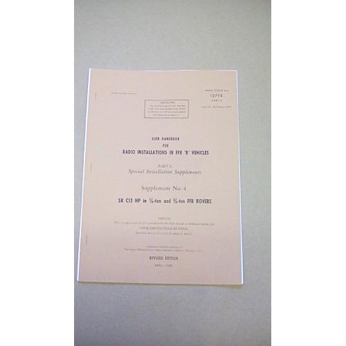 LARKSPUR USER HANDBOOK RADIO INSTALLATIONS IN FFR B VEHICLES  PART 6 SUPP 4  FFR ROVERS